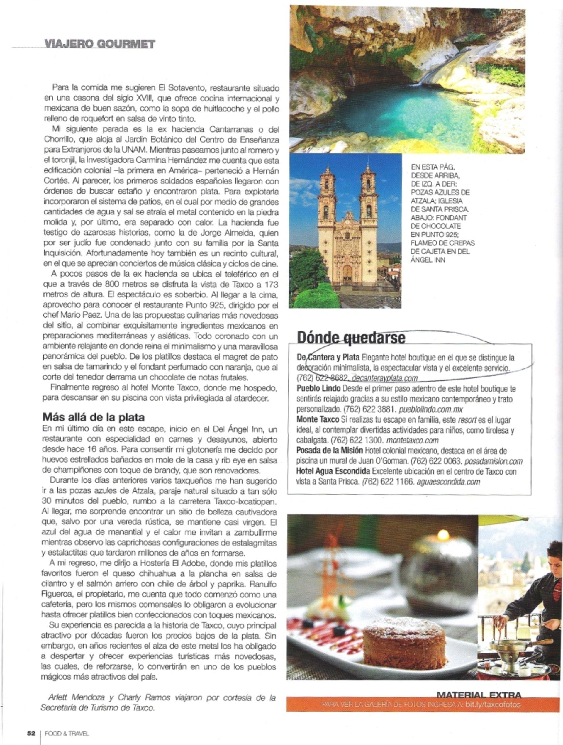 Taxco Restaurant Menu