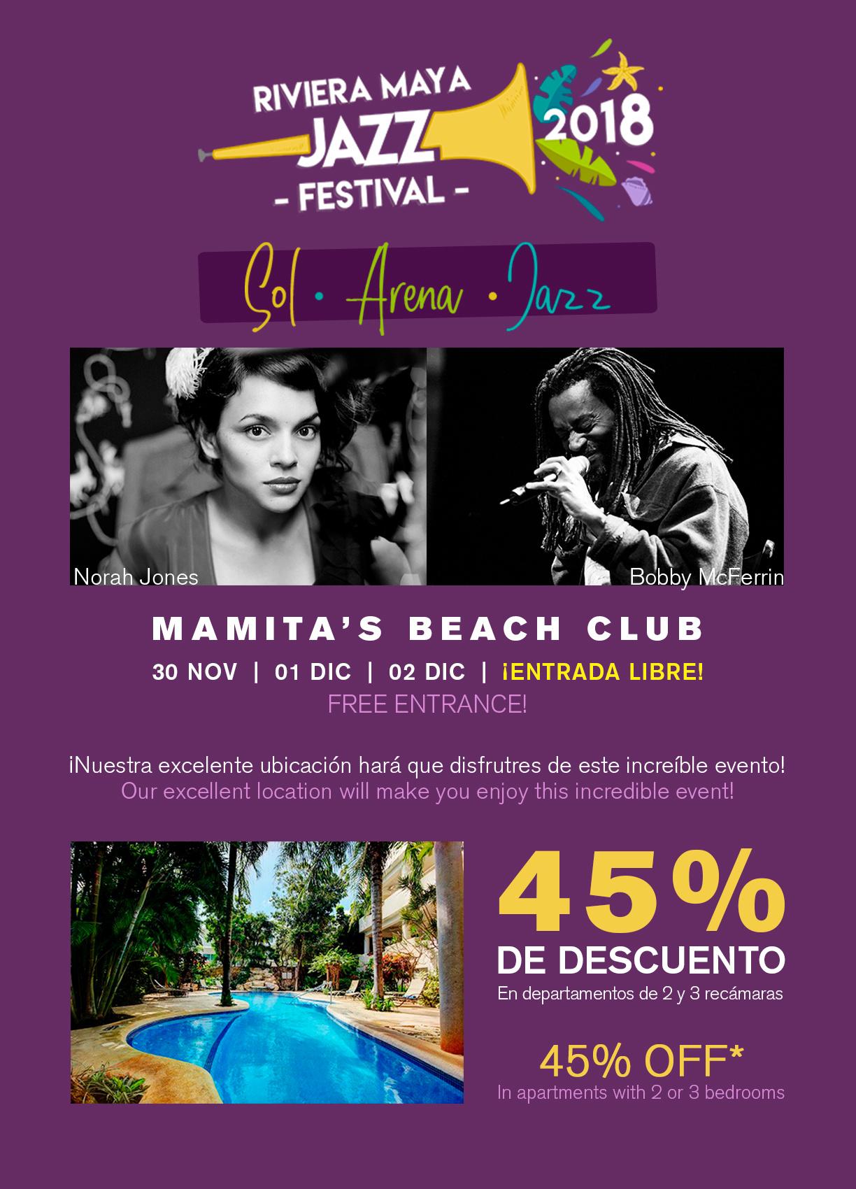 Promo Festival de Jazz 45% de descuento
