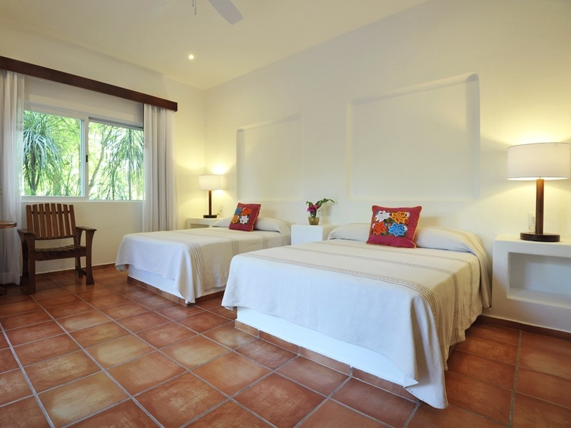 Habitación Jardín AC - 2 camas matrimoniales